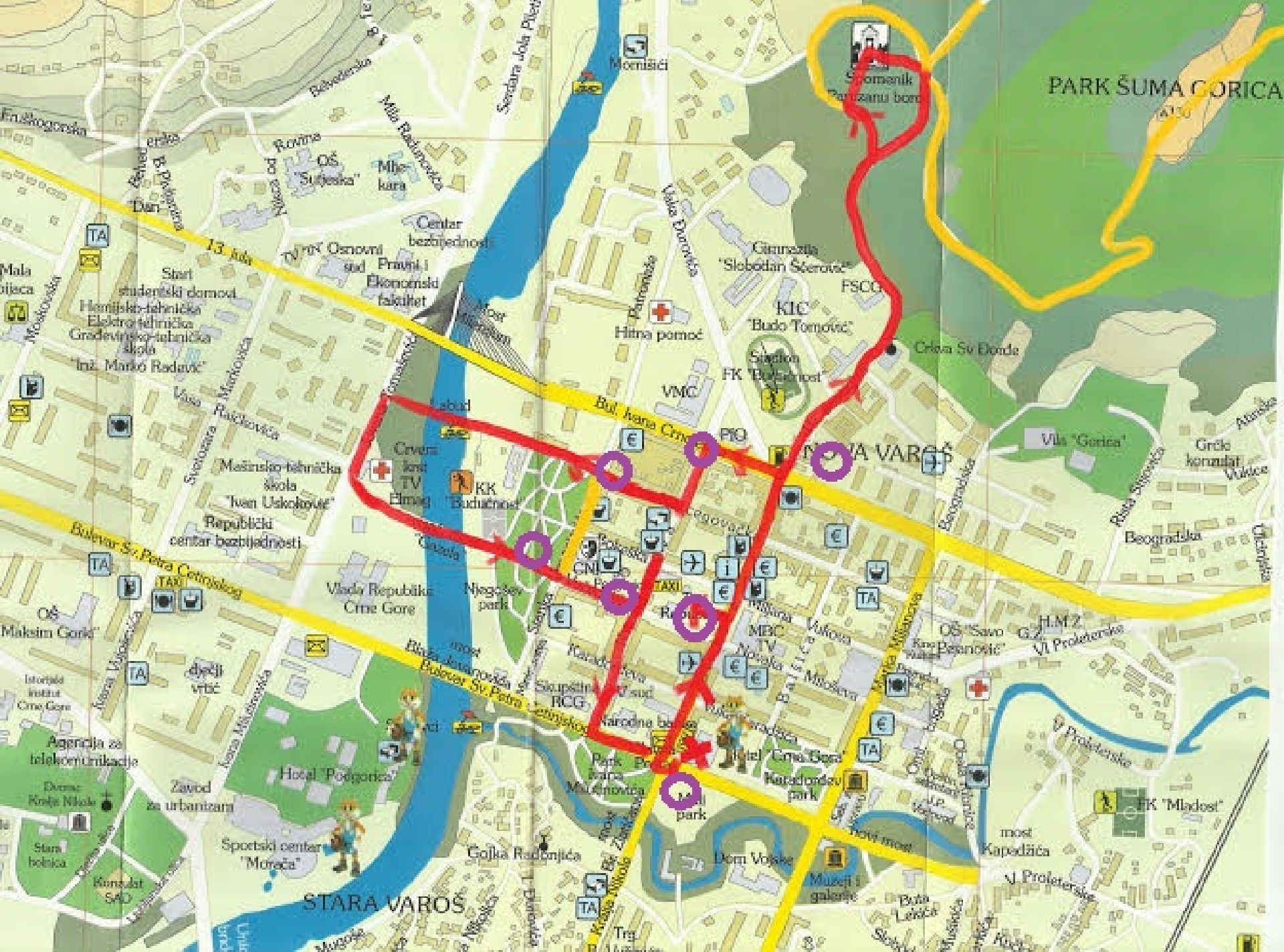 Podgorica walking tour