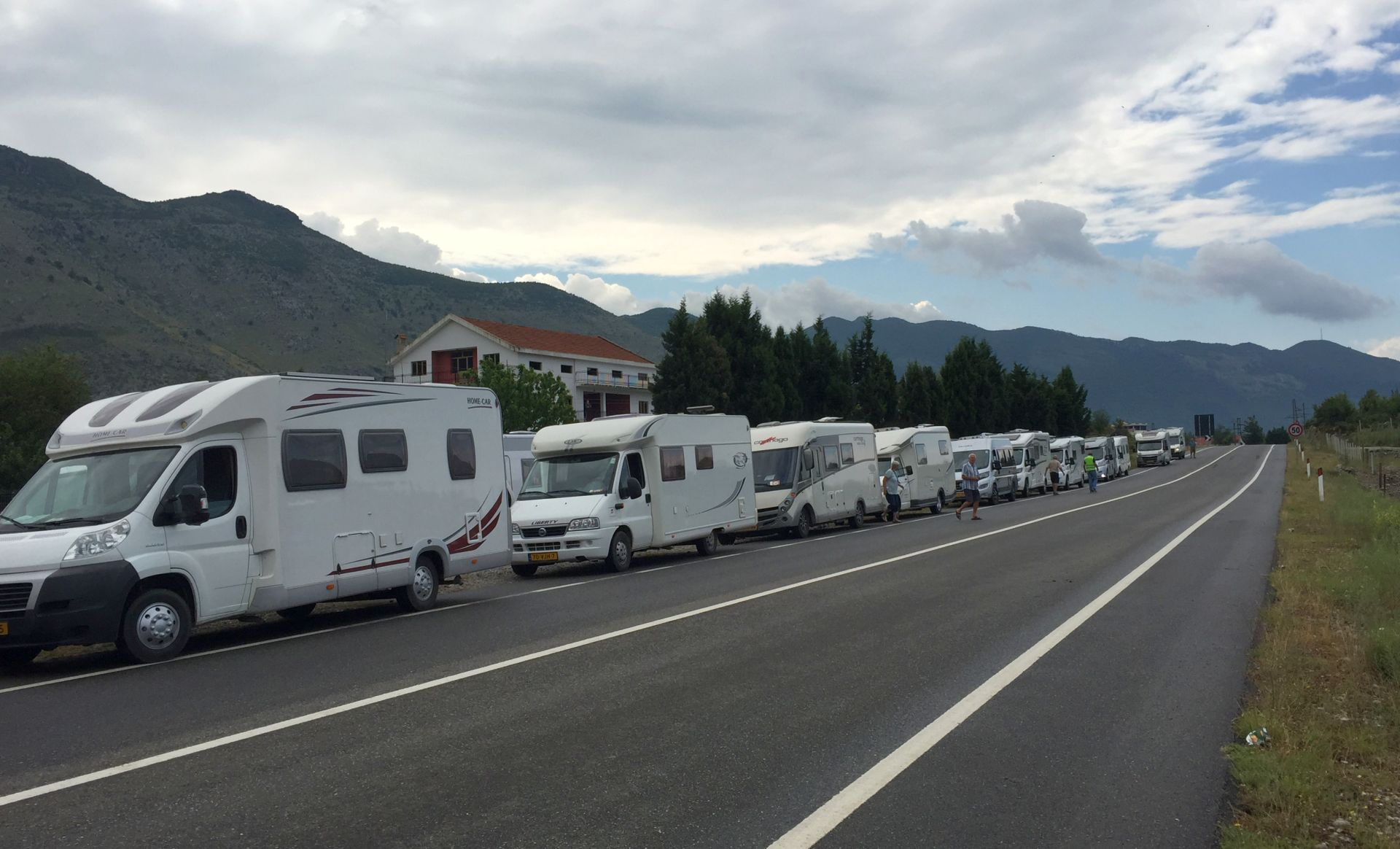 campers1 Albanian border