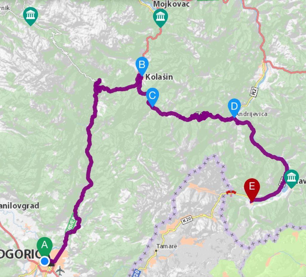 Map 1 - 151 km