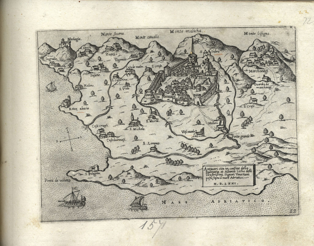 Venetian map of Montenegro from 1646