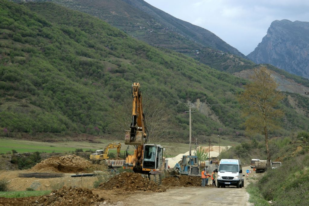 roads of Albania4 construction works