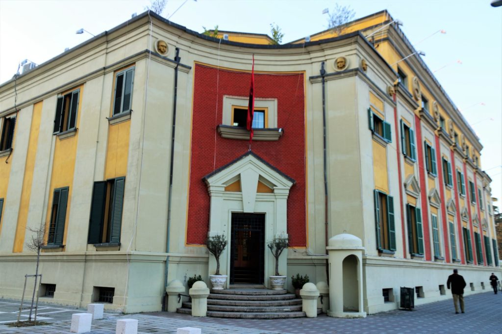 2 Tirana government building