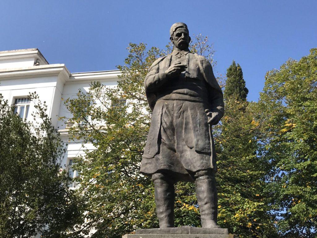 Marko Miljanov statue Podgorica