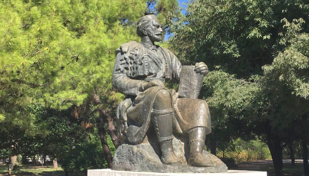 Njegoš statue Podgorica