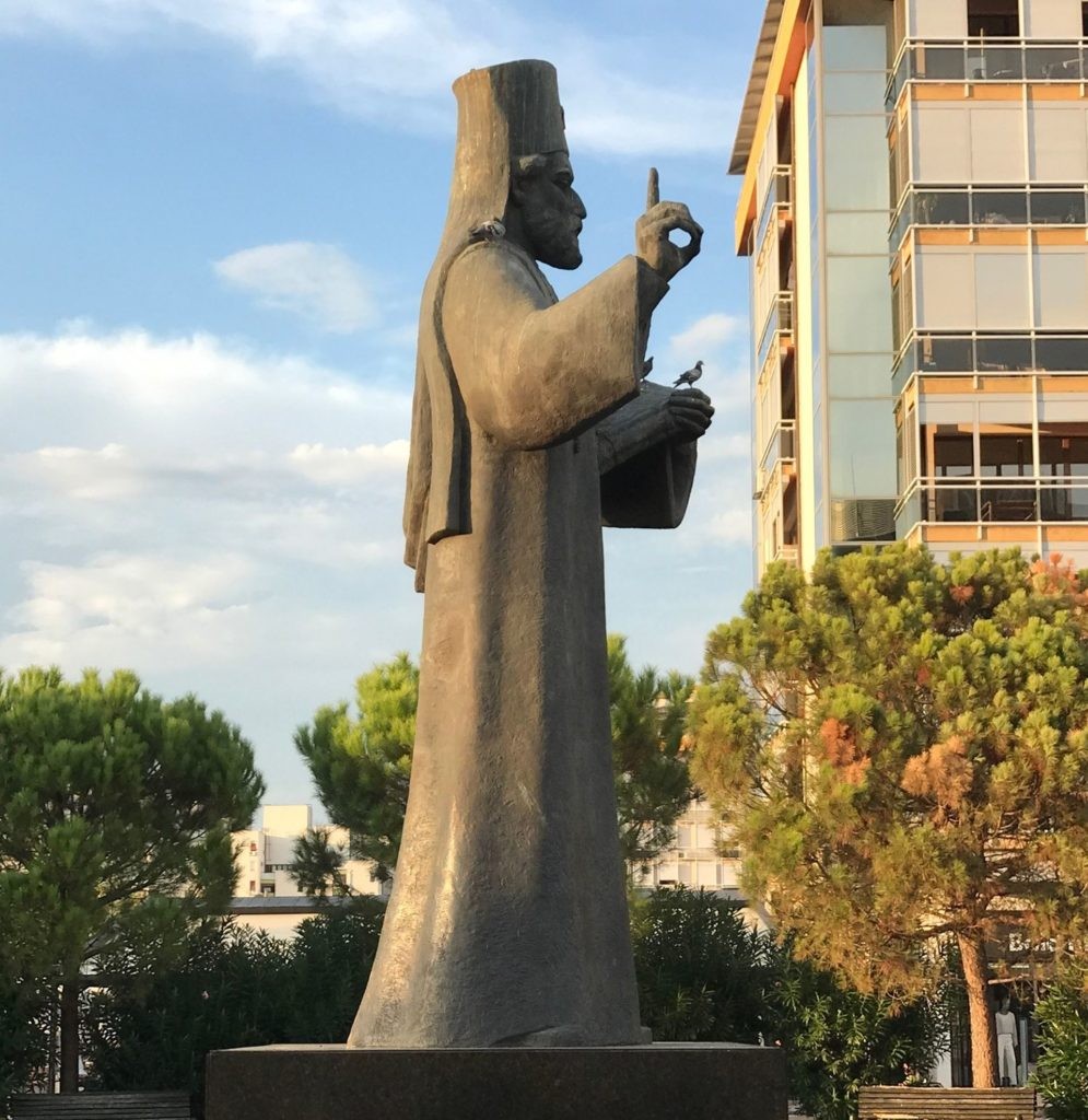 Sv Petar Cetinjski statue Podgorica