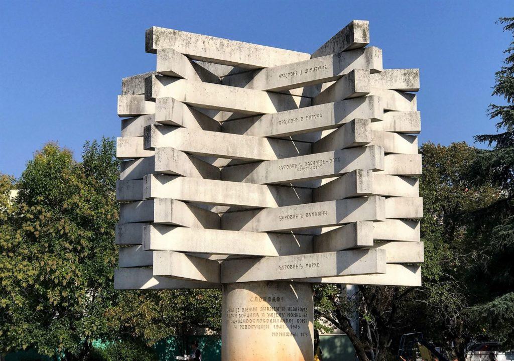 war monument Momisici Podgorica