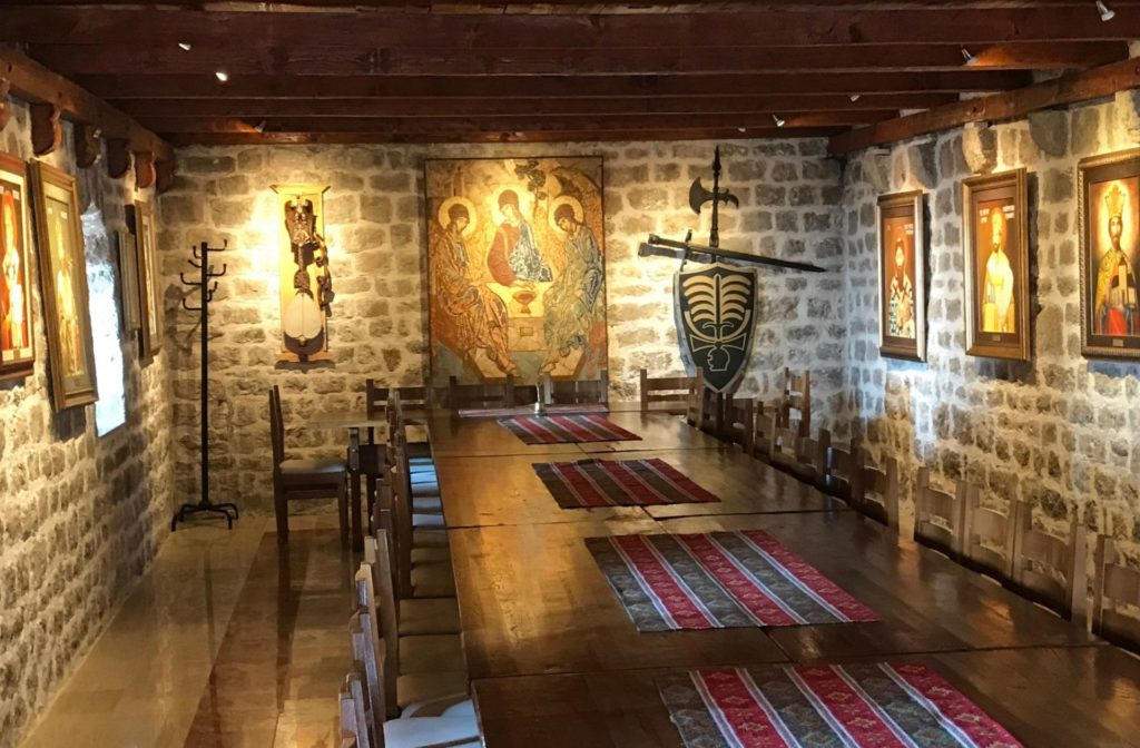 Stanjevići monastery dining room